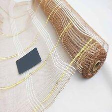 1Y Brown Net Hard Tulle Mesh Fabric Wedding Flower Wrap Decor DIY CHEAP FOR SALE