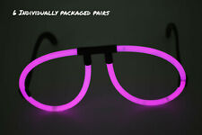 6 Count DirectGlow Pink Glow Stick Eyeglasses Glow in The Dark Party Favors