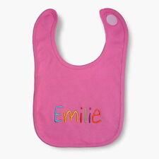 "bySaM - Jersey - Baby - Lätzchen mit Namen bestickt "" pink Color """