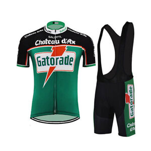 GATORADE Retro Cycling Jersey bib shorts Cycling Short Sleeve Jersey