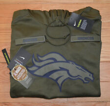 2018 DENVER BRONCOS Salute to Service Hoodie Nike - MENS LARGE - 100% AUTHENTIC