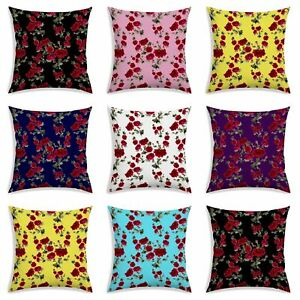 Floral With Leaf Print Cushion Cover Home Decor Square Polyester Pillow Case