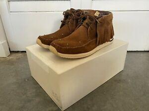 Visvim FBT Shaman Folk Brown Shoes Sneakers Moccasins Size 10.5 Excellent (2014)