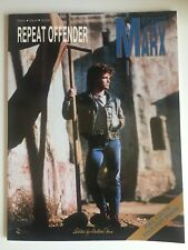"RICHARD MARX ""REPEAT OFFENDER"" Piano Vocal Guitar Music Sheets 1989"