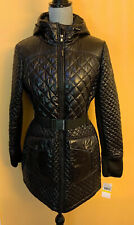 Michael Kors Womens Black Seat Belt Puffer Coat NWT Size Medium