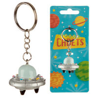 Novelty Collectable Spaceship Space Cadets  Keyring Split Ring and Chain