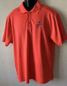 UNDER ARMOUR Heat Gear USMC MARINES EGA  Polo Golf Stretch Neon Shirt M NWOT