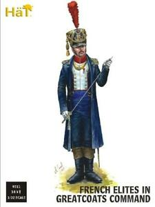 HäT/HaT Napoleonic Wars French Elites in Greatcoats (Command) 1/32 Scale (54mm)