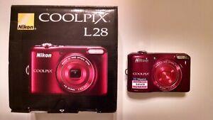 A+ Nikon Coolpix L28 Digital Camera 20.1MP Point & Shoot Video Camcorder