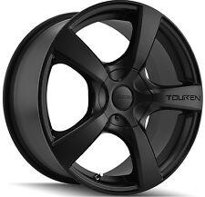 4-NEW Touren TR9 18x8 5x108/5x114.3 +40mm Matte Black Wheels Rims