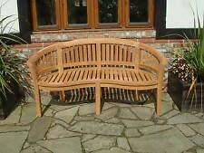 QUALITY BANANA PEANUT BENCH ROUND TOP SUPERIOR QUALITY HUMBER TEAK FREE DELIVERY