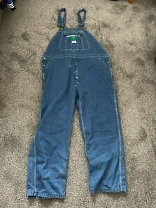 """LIBERTY OVERALLS DUNGAREES MEN'S USED SIZE 40/28 40"""" WAIST BLUE DENIM (4)"""