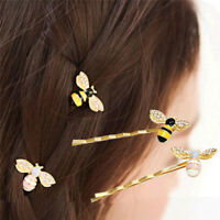 Cute Jewelry Crystal Women Hairpins Barrettes Bees Hair Clips Animal Hairp &h