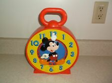 Vintage Disney Mattel MICKEY MOUSE Interactive Spinning/Talking Clock 1981 710