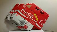 NEW: 5 Vintage Coca-Cola Cardboard Carriers for 6-10oz. Bottles.  Never Used!