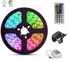 5050 16.4 Feet RGB Waterproof LED Strip Light SMD 44 Key Remote 12V DC Power US