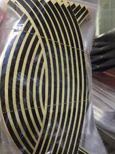 16 Strips Lots Reflective Motorcycle Car Rim Stripe Wheel Decal Tape Sticker New