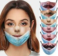Washable Reusable Facemask Funny Wearing Mouth Cover Unisex Personal Facemask