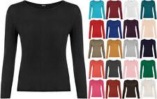 Viscose Long Sleeve Regular Size Basic T-Shirts for Women