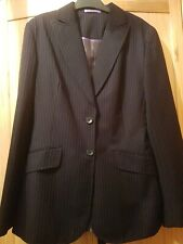 Ladies Pin Stripe Jacket From French Eye Size 8 Super Wool Designer