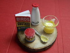 (F3-9) DOLLS HOUSE HAND MADE CUSTARD PREPARATION SET