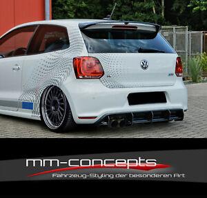 CUP Diffusor Ansatz für VW Polo WRC 6R GTI R Line Heckansatz Heckschürze IN