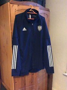 Leeds United Adidas Navy Blue Shower Jacket Large