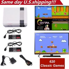 Mini Vintage Retro TV Game Console Lot Classic 600 Built-in Games 2 Gamepad Gift