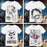 One Piece Tony Tony Chopper White Short Sleeve T-shirt Tops Anime Costume Unisex