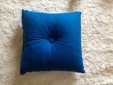 "Button Style Petrol Blue Cushion 40x40cm 16x16"" Prefilled"