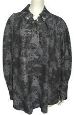 NWT George SIMONTON Gray Black Metallic Gold Jacket XL QVC 18 20 Paisley Coat