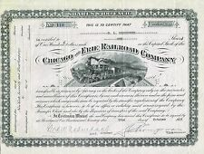 USA CHICAGO & ERIE RAILROAD COMPANY stock certificate
