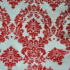 Red And White Fabric Taffeta Fabric By The Yard Damask Fabric Sewing Fabric New