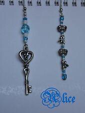 ORECCHINI Alice Meraviglie Chiave Cosplay - Earrings Alice Wonderland Key Disney