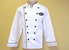 New Nfl New York Jets Premium Chef Coat 100% Cotton Xl Size Football Chief