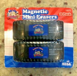 Magnetic Dry Erase Erasers 2 Pack by Mega New In Package