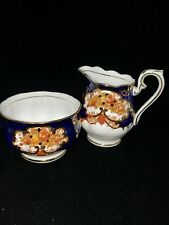 Royal Albert Heirloom Small Creamer & Sugar Bowl Set Bone China England