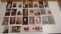 lot of 29 antique photographs real photo pictures on postcards c. 1900
