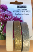 Ashland Glitter Tape One Row Each Of White Silver Gold Great For Floral Decor