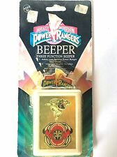 New Sealed 1993 Mighty Morphin Power Rangers 3 Function Beeper