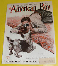 American Boy – Edgar Whitmack Taking Dog Picture Cover April 1938 Magazine Pics!