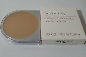 Mary Kay CREME TO POWDER Foundation BEIGE 3.0 NIB D-Shape Discontinued