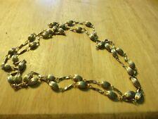"Metal Swingers Necklace L@K! Vintage Jewelry 42"" L Gold-tone"