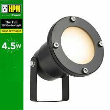 HPM 12V LED Garden Light Pond Spotlight 4.5W Warm White 3000K IP68 DIY Black