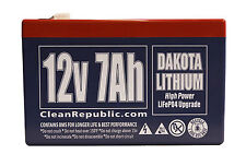 12 V 7 Ah LiFEPO4 Rechargeable Battery SLA Replacement - Dakota Lithium