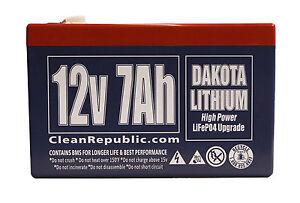 12 V 7 Ah LiFEPO4 Rechargeable Battery SLA Replacement - Dakota Lithium