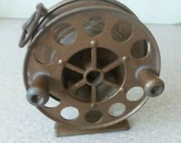 VINTAGE METAL FISHING REEL  - - THE WEY - MARK 3 -  3  1/4  INCH DIAMETER