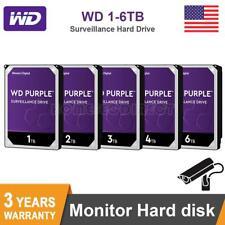 WD Purple 1-6 TB Surveillance Hard Disk Drive 64MB 5400 RPM SATA 6 Gb/s HDD