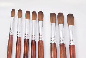 EX Kolinsky Acrylic Nail Brush (CRIMPED)
