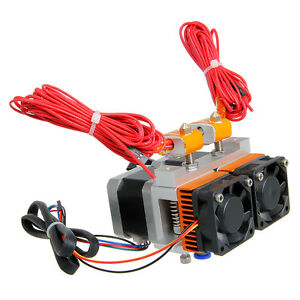 Geeetech 3D Printer Latest Dual Head MK8 dual Extruder 0.35mm Nozzle Makerbot